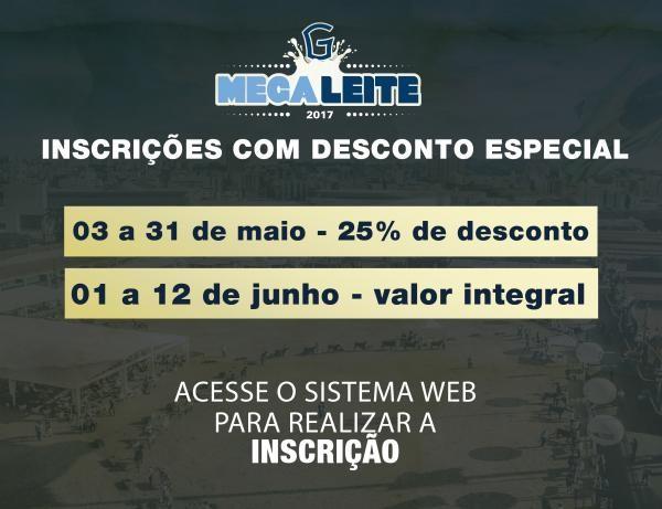 Inscrições para Megaleite 2017 com 25% de desconto vão até 31 de maio