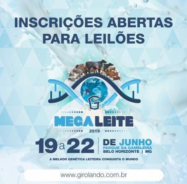Abertas as inscrições para os leilões da Megaleite 2019
